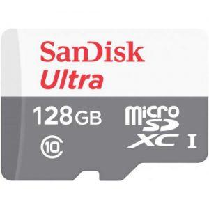 אונליין     SanDisk Ultra MicroSDHC UHS-I C-10 SDSQUNR-128G-GN6MN -  128GB