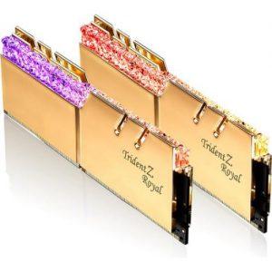 אונליין   G.Skill Trident Z Royal RGB Gold 2x32GB DDR4 3600Mhz CL16 Kit