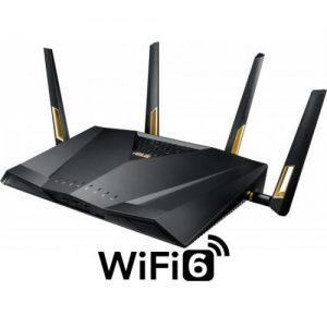 אונליין  Asus RT-AX88U 802.11ax Dual Band Wireless Gaming 6000Mbps