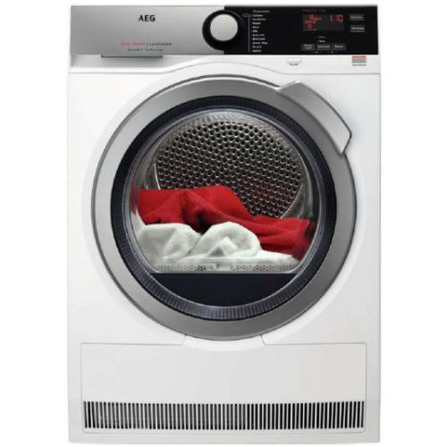אונליין מייבש קונדנסור HeatPump פתח חזית 8 ק''ג AEG TX7E832 - צבע לבן