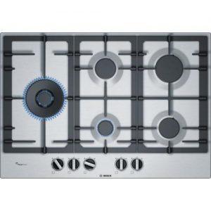 אונליין כיריים גז 5 להבות בישול Bosch Serie 6 PCS7A5B90Y FlameSelect - בגימור נירוסטה - שנה אחריות יבואן רשמי BSH