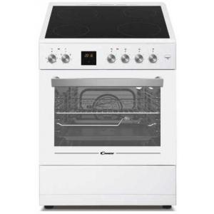 אונליין תנור משולב כיריים קרמיות 60 ליטר 6 תוכניות 4 אזורי בישול Candy CVE660MW/E - צבע לבן
