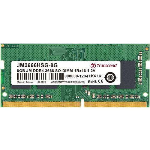 אונליין   Transcend 8GB DDR4 2666Mhz CL19 SODIMM