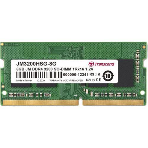 אונליין    Transcend 8GB DDR4 3200Mhz CL22 SODIMM