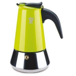 אונליין מקינטה 10 כוסות Pezzetti מותאמת לכיריים אינדוקציה - צבע ירוק