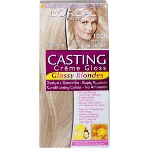אונליין   Loreal Casting 1021 Gloss Cream Blonde Light Pearl Blonde