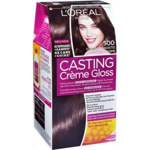 אונליין   Loreal Casting 500 Gloss Cream Natural Brown -