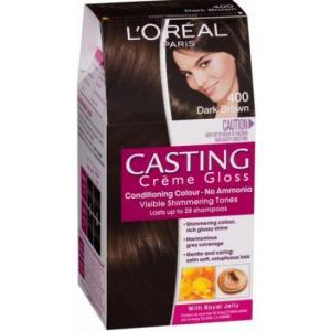 אונליין   Loreal Casting 400 Gloss Cream Dark Brown -