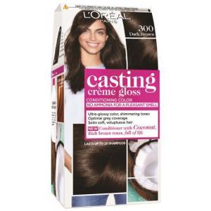אונליין   Loreal Casting 300 Gloss Cream Very Dark Brown -