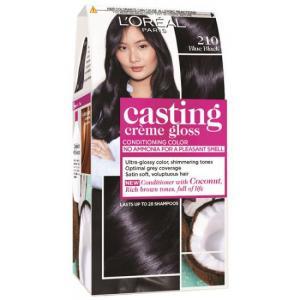 אונליין   Loreal Casting 210 Gloss Cream Black Blue -