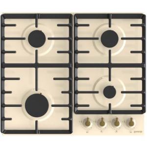 אונליין כיריים גז 4 להבות בישול בגימור שמנת רטרו Gorenje G642CLI