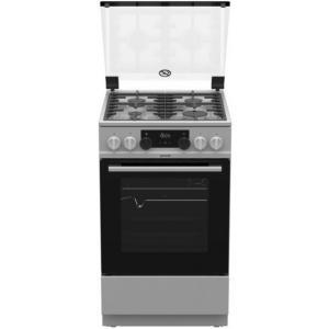 אונליין תנור משולב כיריים גז 70 ליטר 7 תוכניות 4 להבות  Gorenje K5251 - צבע נירוסטה