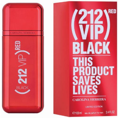 אונליין   100 '' Carolina Herrera 212 VIP Red Black    E.D.P