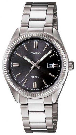 שעון יד אנלוגי יוניסקס עם רצועת מתכת Casio LTP-1302D-1A1VDF - כסוף