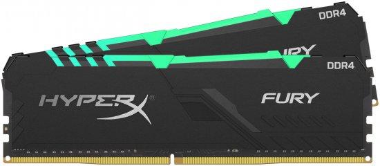 מציאון ועודפים - זכרון למחשב HyperX FURY RGB 2x16GB DDR4 3600MHz CL18