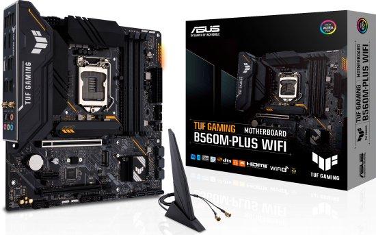 מציאון ועודפים - לוח אם Asus TUF GAMING B560M-PLUS (WIFI) LGA1200 Intel B560 DDR4 2xPCI-E